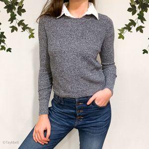 Topshop Schoolgirl Collar Layered Sweater Top, 2